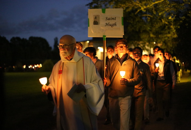 Candlelight Procession from the Lourdes Grotto