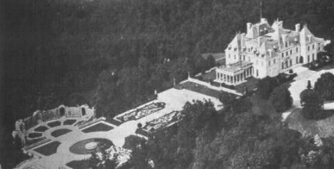 Aerial view of the Mackay Harbor Hill Estate, from which panels donated