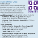 Get Involved in Music at Holy Cross!