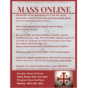 Live Stream Mass and Devotions