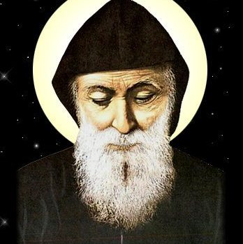 Saint Charbel's relics here at Holy Cross!