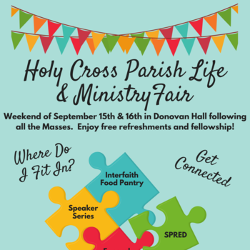 Holy Cross Parish Life & Ministry Fair