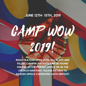 Camp WOW registration now open!