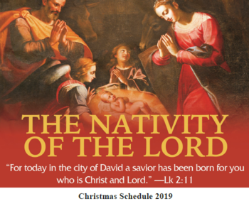 Christmas Liturgy Schedule 2019