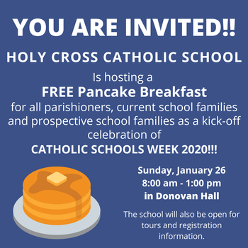 Pancake Breakfast to Kick Off Catholic Schools Week