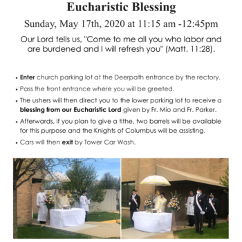 Eucharistic Blessing at Holy Cross