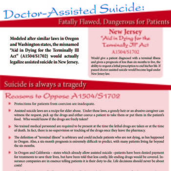 Contact your Legislators to Oppose Assisted Suicide