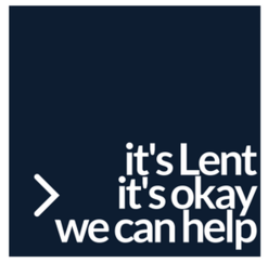 Button about Lent resources at Most Blessed Sacrament Parish, Oshkosh, WI