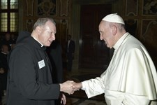 Abbot Richard meets Pope Francis!