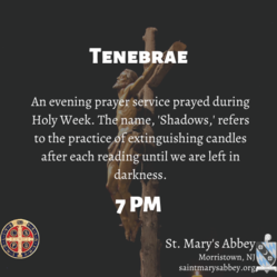 Join us for Tenebrae Thursday and Friday