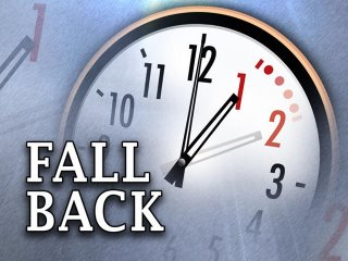 Turn your clocks back one hour tonight!
