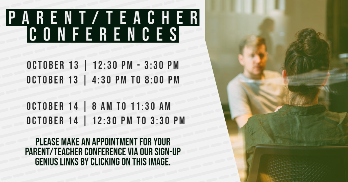 Please click on your teacher's name to access their sign-up for parent/teacher conferences.