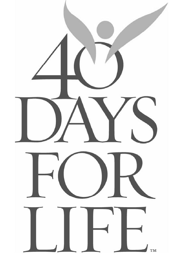 40 Days for Life commitment sheets