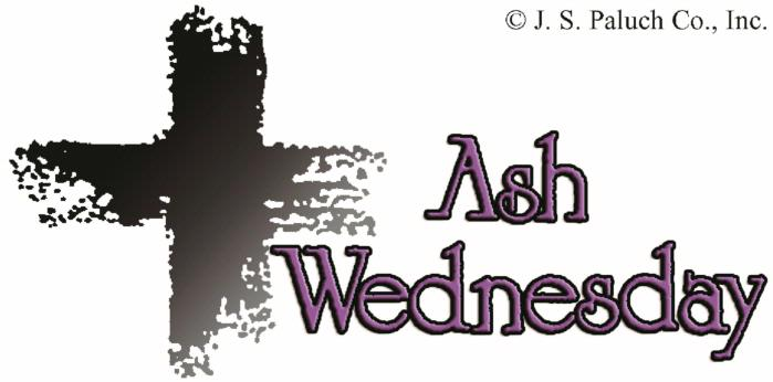 Ash Wednesday and the Distribution of Ashes schedule