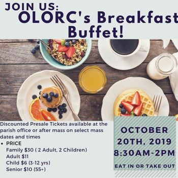 Breakfast Buffet! Our Lady of Refuge