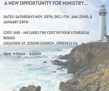 A new opportunity for Ministry