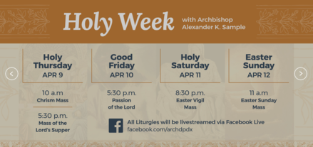 archdiocese holy week schedule