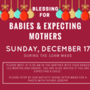 Blessing of the Babies & Expecting Mothers