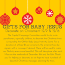 Gifts for Baby Jesus Nativity Scene