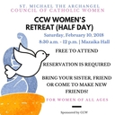 Council of Catholic Women Half Day Retreat - February 10