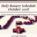 Holy Rosary Schedule October 2018