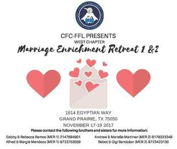 CFC-FFL Presents Marriage Enrichment Retreat