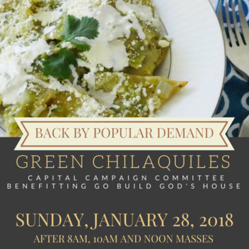 Chilaquiles Breakfast Sale this weekend Jan. 28!