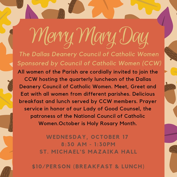 Council of Catholic Women Merry Mary Day