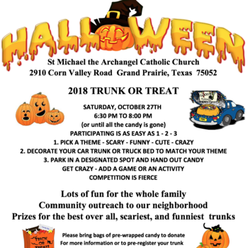 Youth Group Presents Trunk or Treat