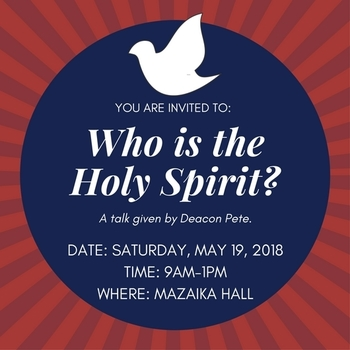 WORKSHOP: Who is the Holy Spirit (May 19th)