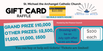 GIFT CARD RAFFLE BEGINS THIS WEEKEND $10,000