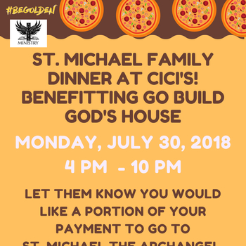 St Michael Family Dinner at Cici's