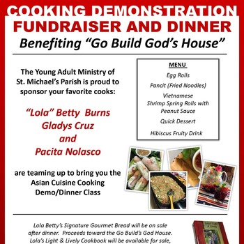 Asian Cooking Demo & Dinner Fundraiser for Go Build God's House