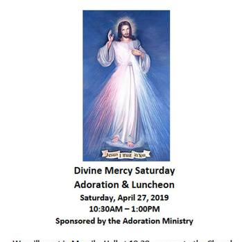 Divine Mercy Saturday