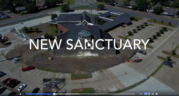 Watch our new sanctuary video construction update