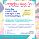 April 13 Scrapbook Crop and Ladies' Night Out