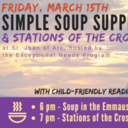 March 15 Simple Soup Supper