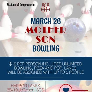 Mother Son Bowling Event - March 26