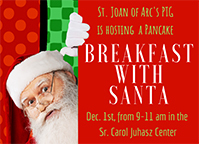 Dec 1 is Breakfast with Santa