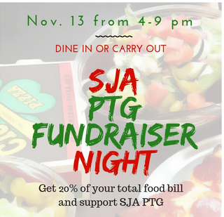 Nov. 13 is PTG Fundraiser Night