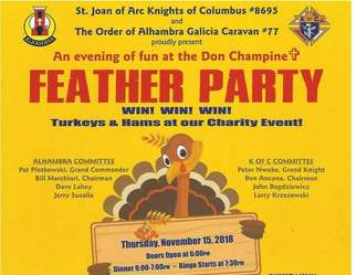 Nov. 15 is Feather Party Time!