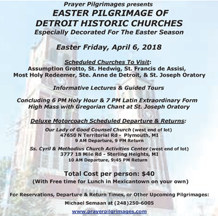 EASTER PILGRIMAGE OF DETROIT HISTORIC CHURCHES