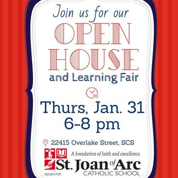 School Open House and Learning Fair - RESCHEDULED for Wed, Feb 6.