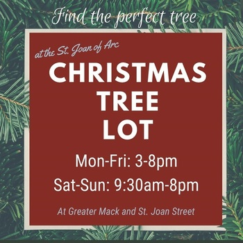 SJA's Christmas Tree Lot is OPEN