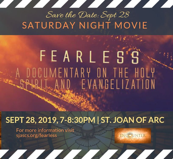 Sept 28 - FEARLESS - The Documentary at SJA