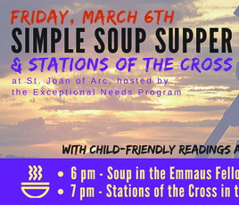 March 6 - Simple Soup Supper