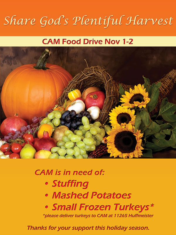 CAM Thanksgiving Donations