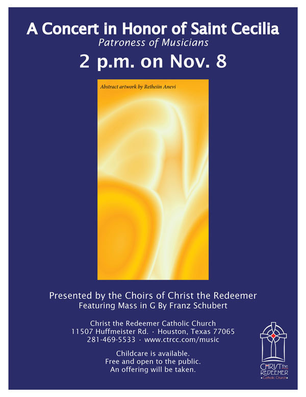 A Concert in Honor of Saint Cecilia Flier