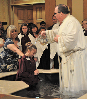 Kaitlin Rinker Baptism at Christ the Redeemer
