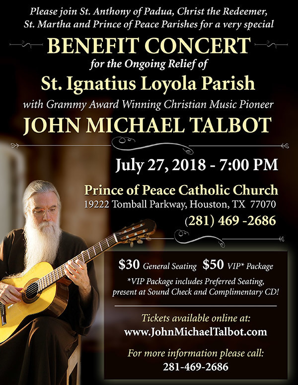 Benefit Concert with John Michael Talbot